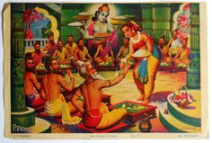 India Vintage Calendar Print Hindu Shri Dropati Durvasha Rishi GNGP726 | eBay
