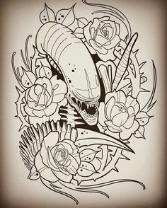 23 new Ideas for tattoo sleeve vintage clip art Kunst Tattoos, Tattoos Skull, Body Art Tattoos, Sleeve Tattoos, Nerd Tattoos, Movie Tattoos, Tattoo Sketches, Tattoo Drawings, Cool Drawings