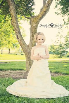 Loved how this came to life! This is a beautiful 5 year old girl in her Mom's wedding dress <3