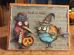 My Halloween card this year! Tim Holtz: Bird Crazy