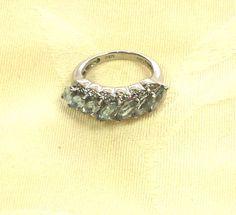 Aquamarine Ring or Wedding Band Handmade by NorthCoastCottage