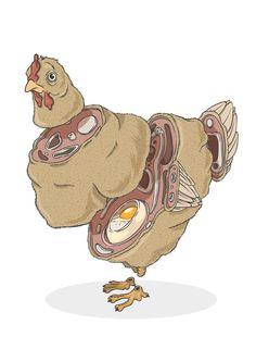 Sliced Animals by Alexandre Godreau (Chicken)