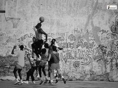 Billedresultat for image search afro american male outside black and white 1980's basketball dunk projects skyline