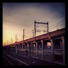 Sunset in Tokyo.