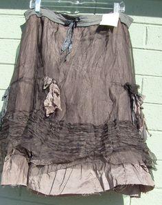 Meg By Design Silk Peasant Skirt