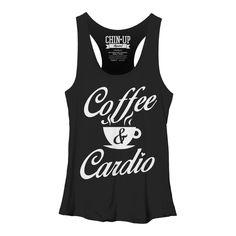 CHIN UP Women's - Coffee and Cardio Racerback Tank