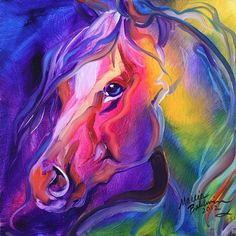 """""""EQUINE PRISM I"""" by Marcia Baldwin: A small original oil painting, by equine artist, Marcia Baldwin.This original was sold to a collector and is in a private collection. Enjoy PRINTS here from this website. Arte Equina, Horse Artwork, Horse Drawings, Oil Painting Abstract, Painting Trees, Equine Art, Art Portfolio, Animal Paintings, Unique Art"""