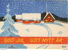 1946 Small Cards, Sale On, Sweden, Holiday, Christmas, Miniatures, Signs, Artist, Xmas