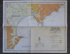 New Zealand map of Gisborne East Coast North Island surfing Poverty Bay 1918 . #NZGeologicalSurvey