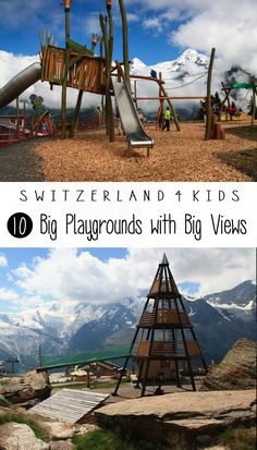 Swiss mountain resorts cater to families and often have big elaborate playgrounds right next to the big views. This is a great reward and motivation for kids to finish the hike. Here are our favorites. Switzerland Cities, Hiking Places, Great Days Out, Christmas Travel, Swiss Alps, Mountain Resort, Beautiful Places To Visit, Ireland Travel, Voyage