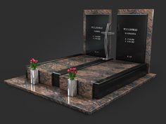 Projekty nagrobków - Kamieniarstwo NeRo - katalog wizualizacji Tombstone Designs, Cemetery Decorations, Cemetery Headstones, Models, Funeral, Quilts, 2d, Flower Arrangements, Grave Decorations