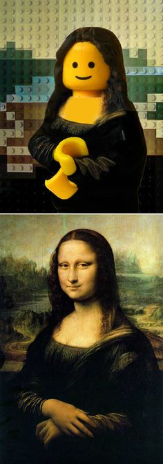 10 Famous Paintings Recreated in LEGO - Oddee.com (famous paintings, lego paintings)