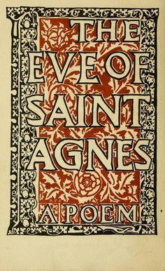 "John Keats' ""The Eve of St. Agnes"" - my favourite poem. St Agnes, John Keats, Green Books, Young Love, English Literature, I Love Reading, Future Husband, Quotations, Poems"