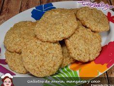 Galletas de avena, manzana y coco, para el #asaltablogs Coco, Cookies, Desserts, Cakes With Fondant, Oatmeal Cookies, Veggie Food, Food Recipes, Biscuits, Deserts