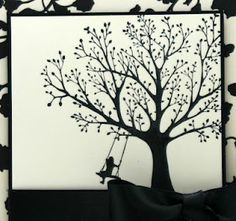 Tree w/ girl on swing to paint on wall for girl room