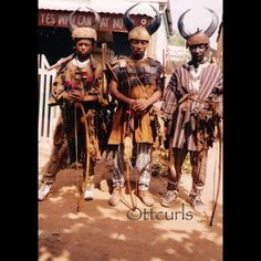 Present-day warriors for the main chief of the region - Upper East Ghana