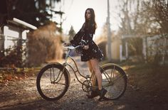 Travelling Photographer by The Photo Fiend Bicycle Girl, Bike, Cycle Chic, Latest Hd Wallpapers, Pink Mini Dresses, Poses For Photos, Grey Tank Top, Woman Standing, Beautiful Images