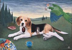 #shelestart #painting #popsurrealism #lowbrow #lowbrowart #beagle