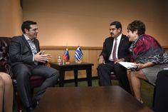 Ρεπορτάζ αποκαλύπτει ότι ο Αλέξης Τσίπρας προετοιμαζόταν από το 2013 για Grexit και ζητούσε από το Μαδούρο μεταξύ άλλων να μεσολαβήσει στον Πούτιν που ζητούσε αεροπορική βάση στην Κρήτη για να τον στηρίξει! Αντίδραση της Νέας Δημοκρατίας που ζητά εξηγήσεις