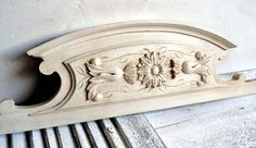 Antique French Carved Wooden Pediment by shabbyfrenchvintage