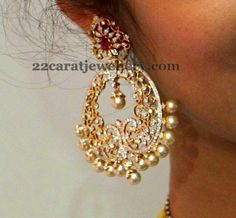 Jewellery Designs: Diamond Chandbalis by Vasundhara Jewellers