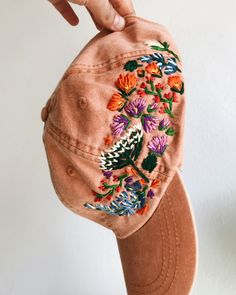 Embroidered hats by Lexi Mire