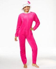 Hello Kitty Super Plush Hooded Jumpsuit | macys.com