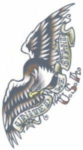 Tattoo Vintage Eagle 1950 by Morris Costumes. $2.20. Temporary Tattoo. So realistic your friends will think its real. Toys amp; Games  Temporary Tattoos | tattoos picture realistic temporary tattoos