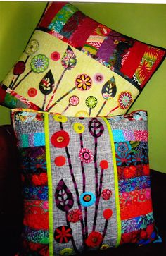 Growing Up cushions - colorful pillows pattern - Flying Fish Kits. $21.50, via Etsy.