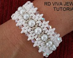 Tutorial Dallas Bracelet by Vivatutorial on Etsy