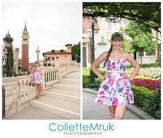 Collette Mruk Disney World Senior Portrait Photographer england epcot