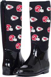 Kansas City Chiefs The Enthusiast II Rain Boots $99.99 http://www.fansedge.com/Kansas-City-Chiefs-The-Enthusiast-II-Rain-Boots-_-1874951733_PD.html?social=pinterest_pfid47-32785