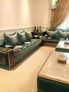 Living Room Sofa Design, Home Room Design, Living Room Designs, Living Room Decor, House Design, Home Decor Furniture, Sofa Furniture, Furniture Design, Moroccan Home Decor