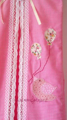 porta pannolini di stoffa per cameretta bimba