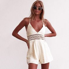Shop For Cheap Ladies Topshop Blue White Red Sleeveless Pleated Playsuit Size 6 Holiday Summer Carefully Selected Materials Clothing, Shoes & Accessories