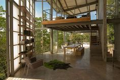 the contemporary tree house in the rainforest canopies outside of san salvador suggests a new modern vernacular, with the realization of dreamed spaces.