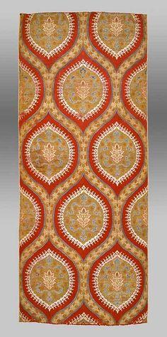 Ottoman Silk, Turkey, 16th Century  Silk and metal thread, lampas weave