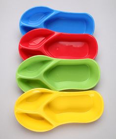 Take a look at this Flip-Flop Bowls - Set of Four by Taco Night: Kitchen & Dishware on #zulily today!