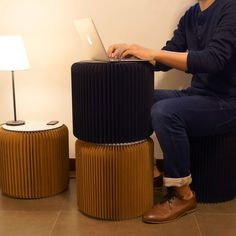 Bookniture: furniture that folds flat into a book you can keep on a shelf