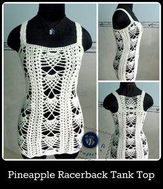 Crochet pineapple racerback tank top