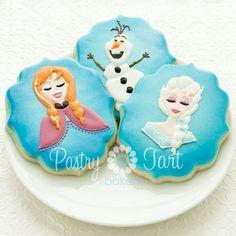 Anna Cookies Disney Frozen 1 dozen Birthday by PastryTartBakery