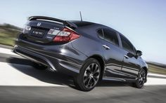 honda civic si 2016 rear back exterior in solid black - DovCars