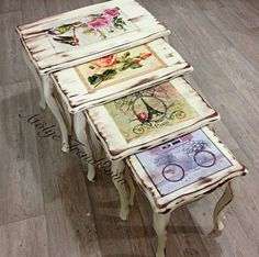 Discover recipes, home ideas, style inspiration and other ideas to try. Decoupage Furniture, Paint Furniture, Repurposed Furniture, Shabby Chic Furniture, Furniture Makeover, Vintage Furniture, Decoupage Vintage, Painted Chairs, Painting On Wood
