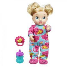 Baby Alive Oyuncu Bebegim 129.89TL yerine 119.90TL Baby Alive Oyuncu Bebeğim, gıdıklanmaya bayılıyor. Gıdıklandıkça daha çok gülüyor, kollarını ve bacaklarını oynatıyor. Biberonu verildiğinde sakinleşiyor; kahkahaları sevimli mırıltılara dönüşüyor, bazen de onu hıçkırık tutuyor. 4 kalem pil ile çalışır ve  kutuya dahildir Kutuda  biberon ve çıngırak da çıkmaktadır 3+ Yaş ve Üzeri http://minimintan.com/baby-alive-oyuncu-bebegim.html