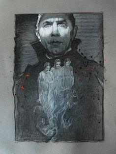Drew Struzan's Dracula for Mondo's 'Universal Monsters' Gallery