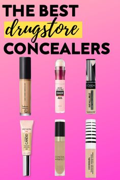 Have you been on the hunt for the best drugstore concealer? Look no further! In this article, I review the best concealers from the drugstore by shade range, coverage, blend ability and staying power. You need these drugstore makeup products! #drugstoremakeup #bestdrugstoreconcealers #thebestdrugstoremakeup #beautyproductsdrugstore #bestdrugstoremakeupproducts Makeup Hacks, Makeup Routine, Makeup Tutorials, Makeup Tips, Best Drugstore Concealer, Drugstore Skincare, Fall Makeup Looks, Natural Makeup Looks, Brands Like Glossier
