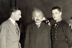 October 1931 – The Caltech Department of Physics Faculty and graduate students meet with Albert Einstein as a guest.Albert Einstein with director Jacques Feyder and actor Ramon Novarro at the MGM studios in 1931.  (© Bettmann/CORBIS)