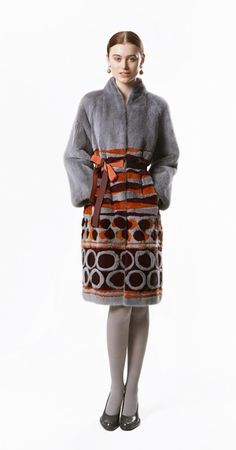Giuliana Teso Multi Mink Fur Coat