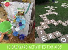 Backyard Kid Activities