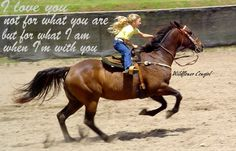 Little girl and horse. Barrel racer. Wildflower Cowgirl. The joy of being on a horse!